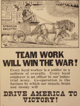 Team Work Will Win the War!