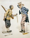 Chinese Soldier and Uncle Sam