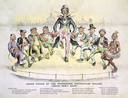 Free Photo: Uncle Sam and 8 Men Dancing