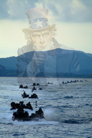 Free Photo: Uncle Sam Merged With Gulf of Thailand Amphibious Vehicles