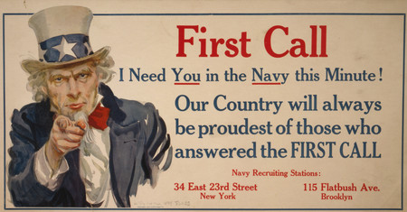 Free Photo: First Call I Need You in the Navy this Minute!